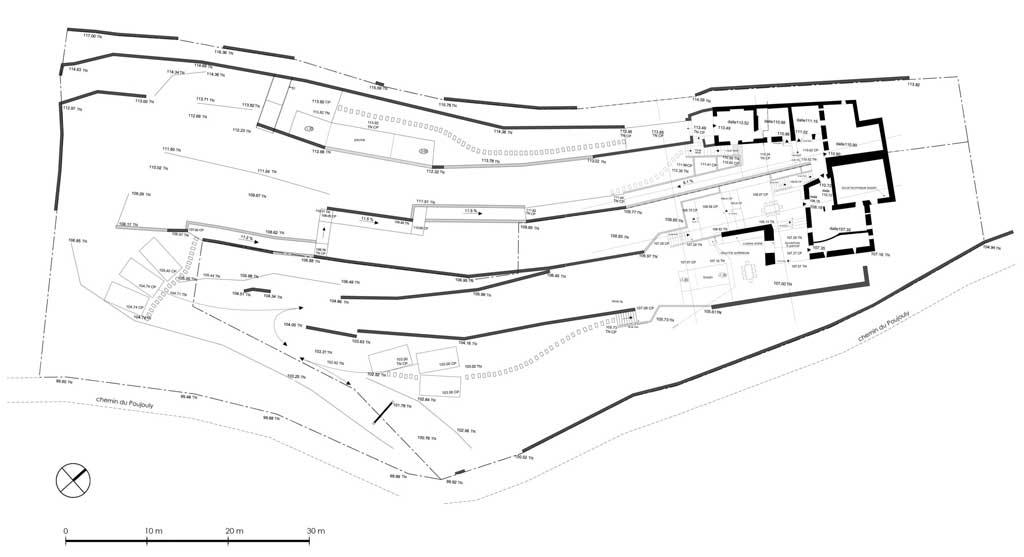 Traverses - plan-général-des-murs-de-soutènement-projetés