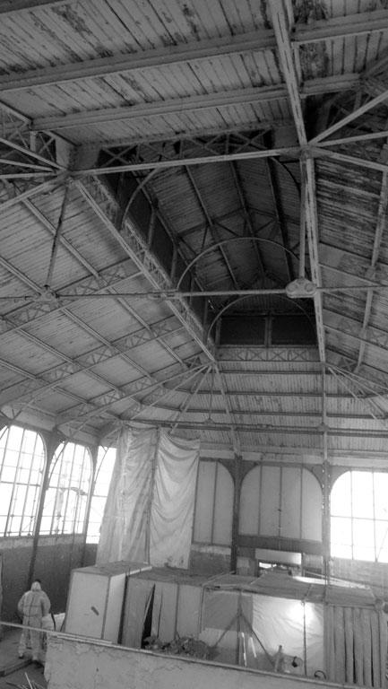 Traverses - 2016-03-17 dépose façades Halles 3