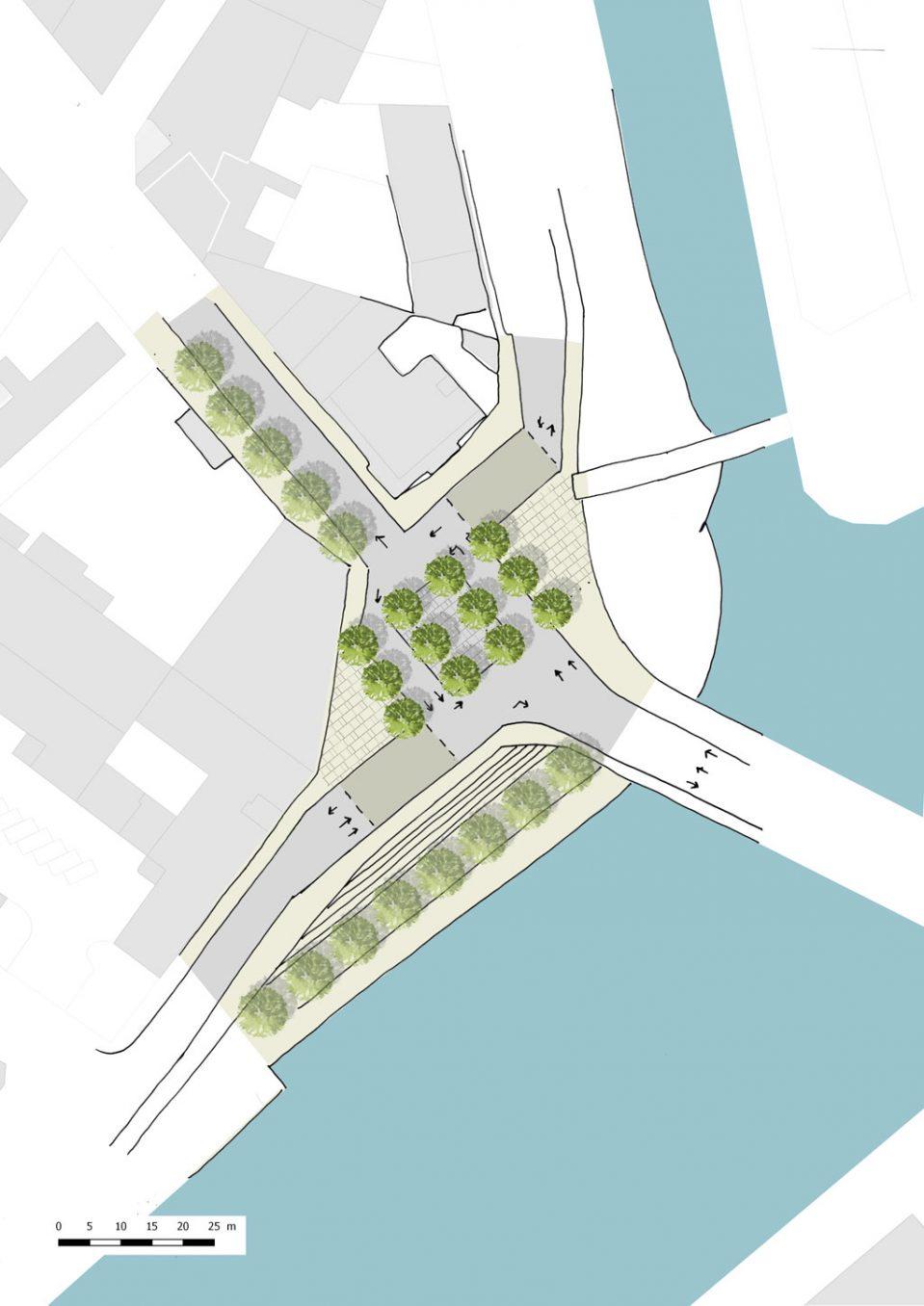 Traverses - proposition par sous-secteur : l'ancien giratoire