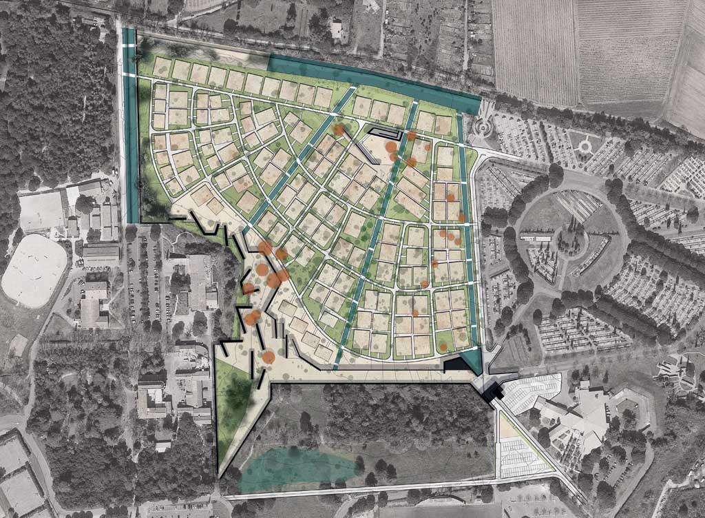 Traverses - intégration de l'extension du cimetière existant Saint Etienne