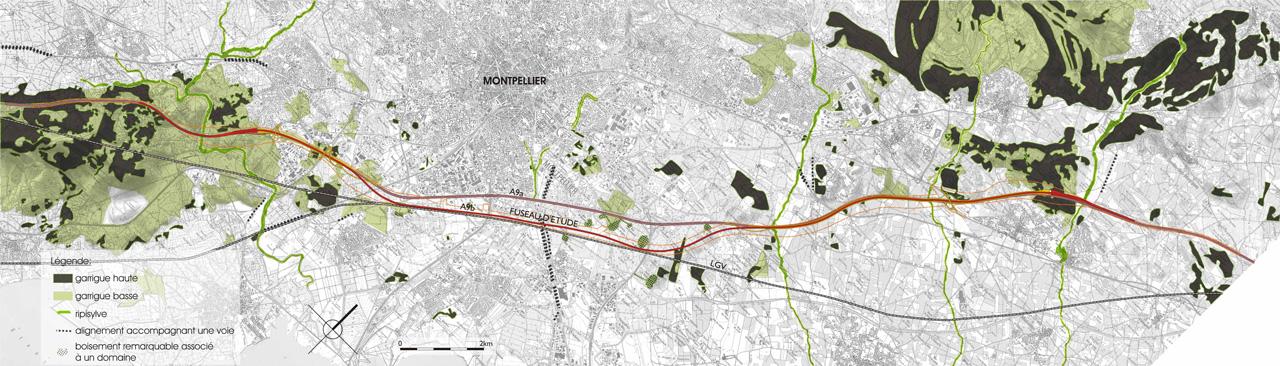 Traverses - cartographie d'étude - carte végétale