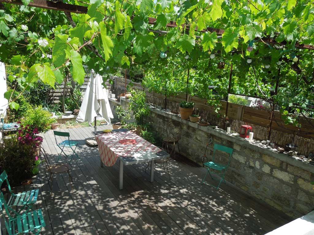 Traverses - jardin sud et pergola