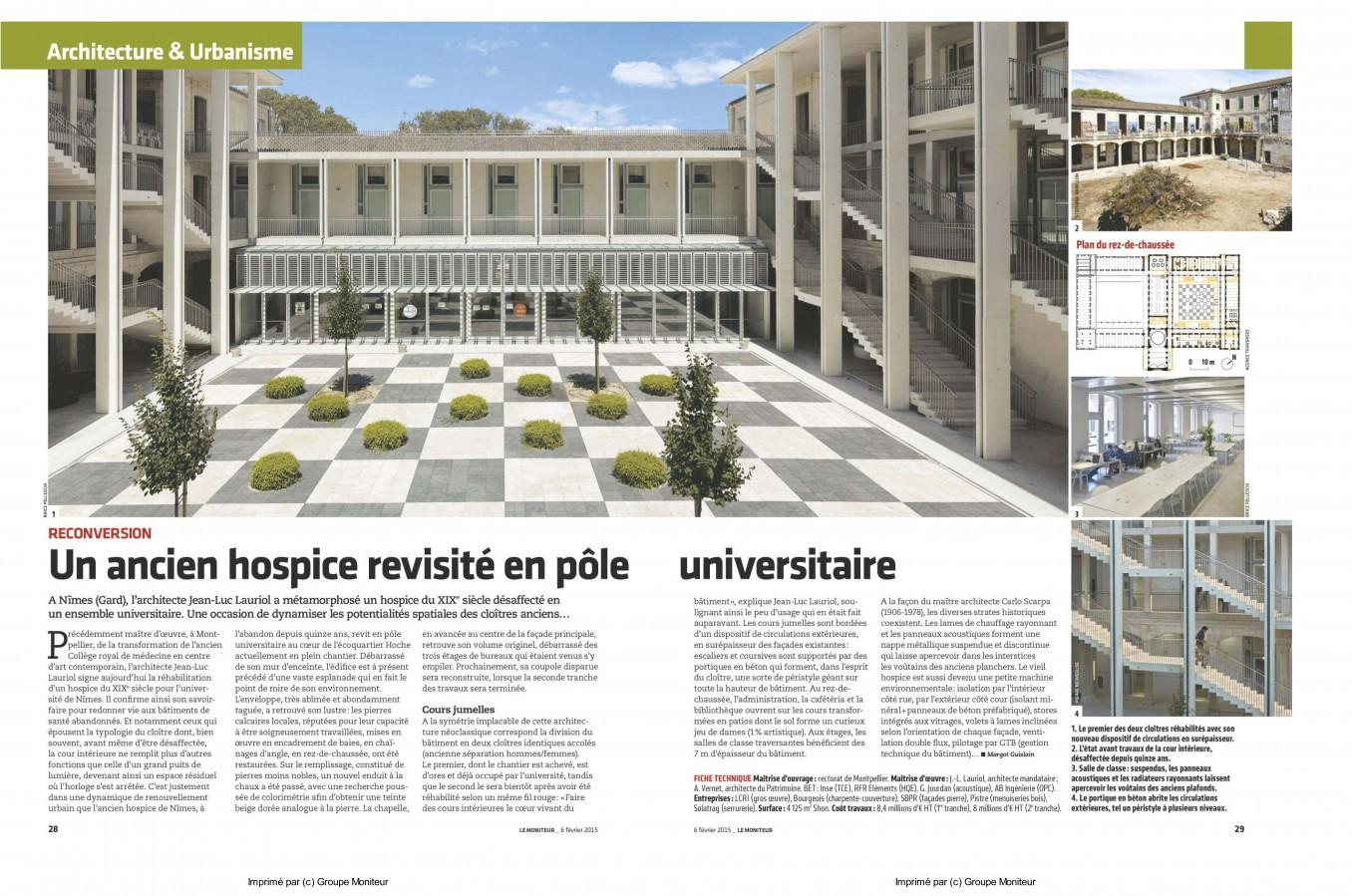 Traverses - Article paru dans Le Moniteur- février 2015-Hoche