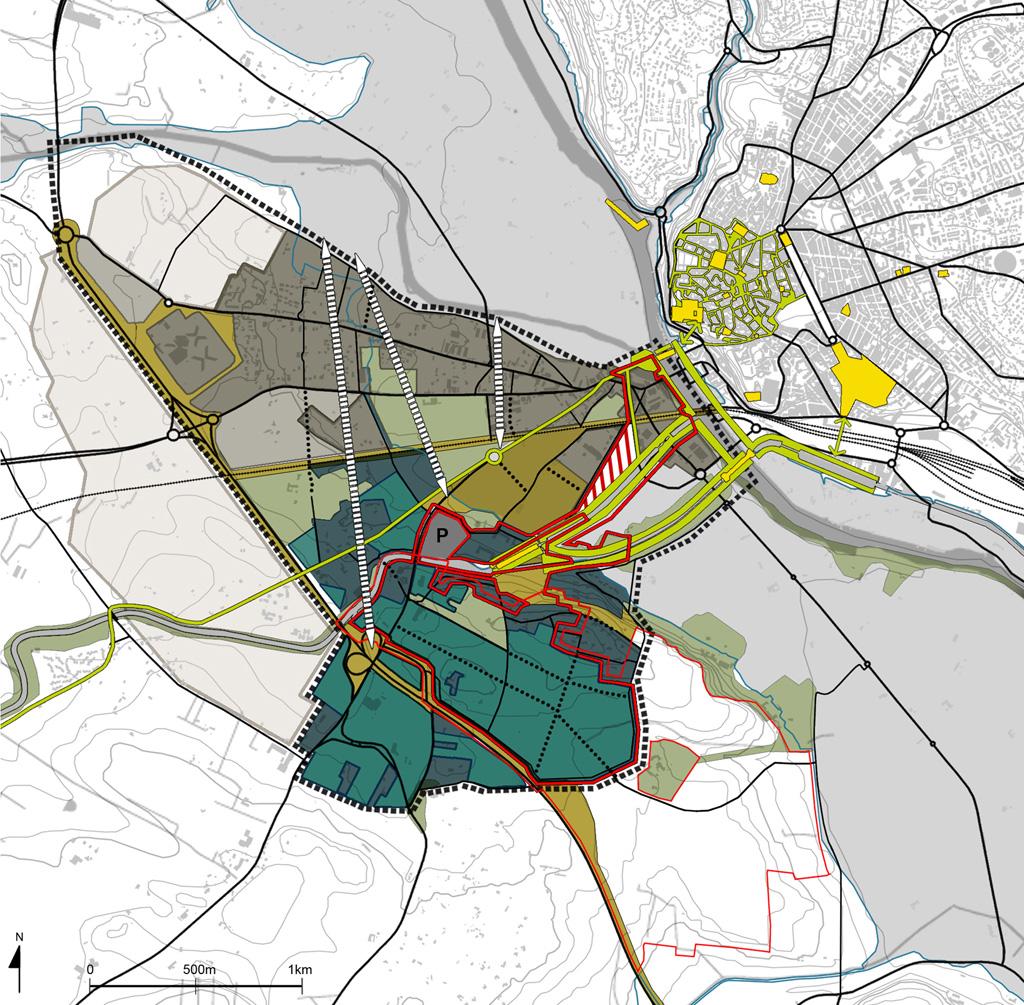 Traverses - propositions - insertion du projet dans la ville