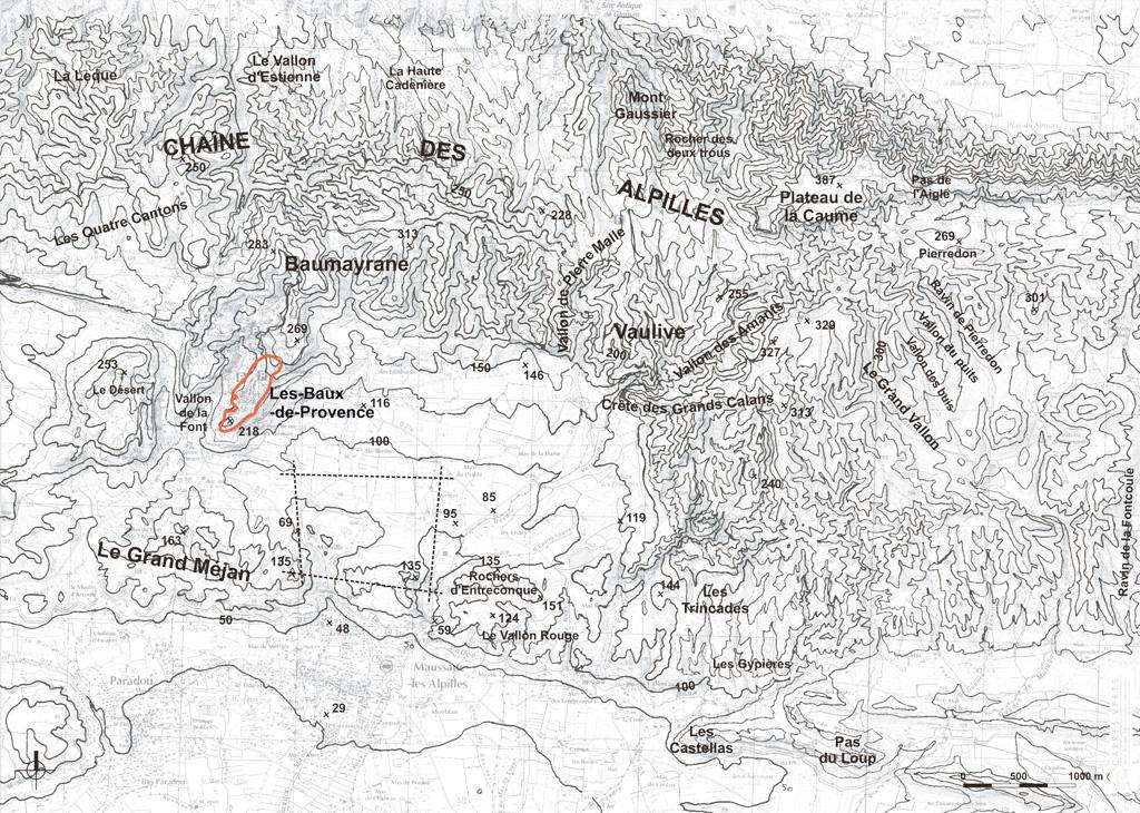 Traverses - carte du relief