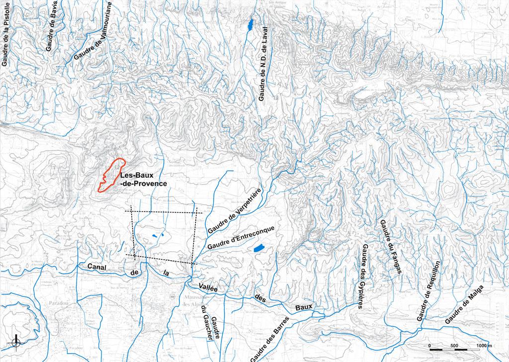 Traverses - carte des cours d'eau