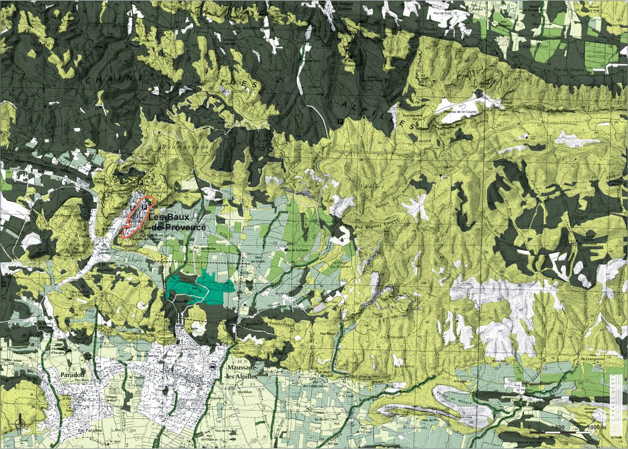 Traverses - carte de la couverture végétale