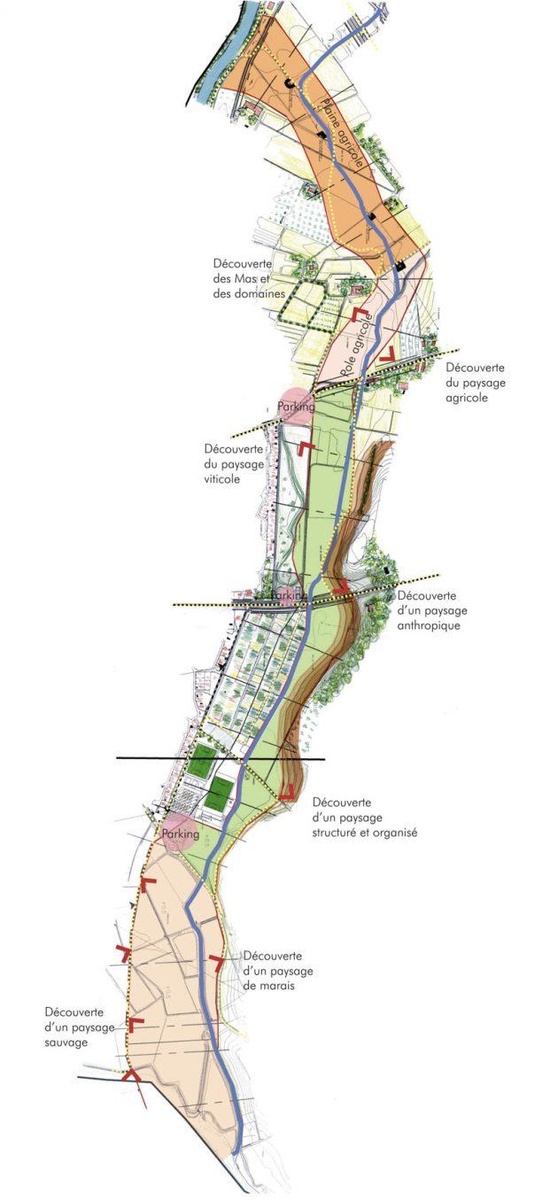 Traverses - carte d'orientation du projet
