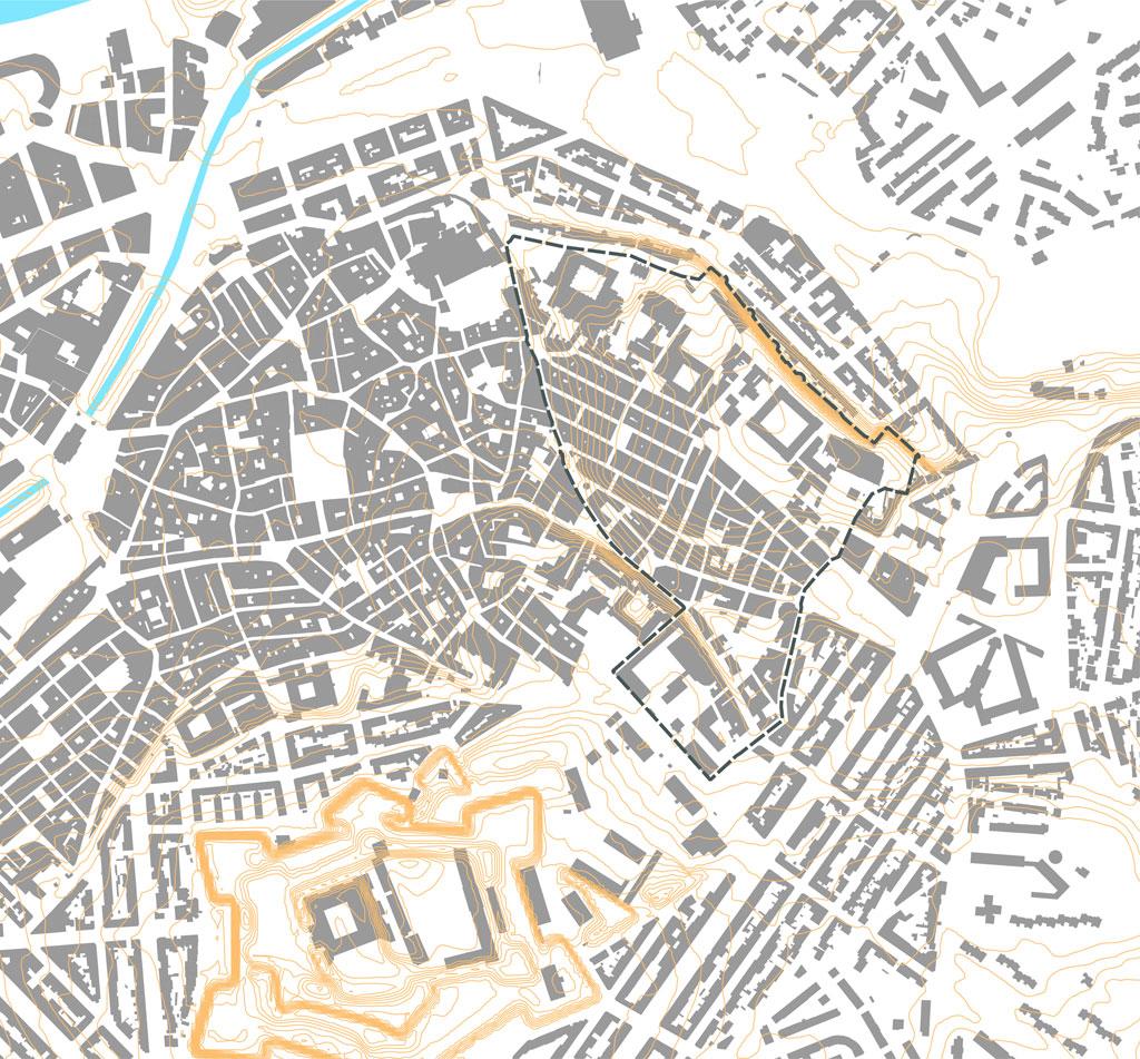Traverses - une densité bâtie très importante (94% environ)