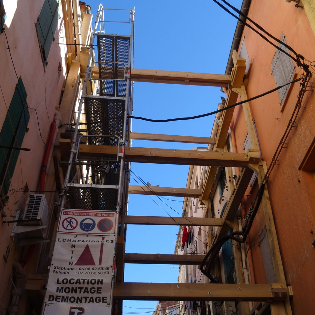 Traverses - stabilisation d'un des immeubles en péril