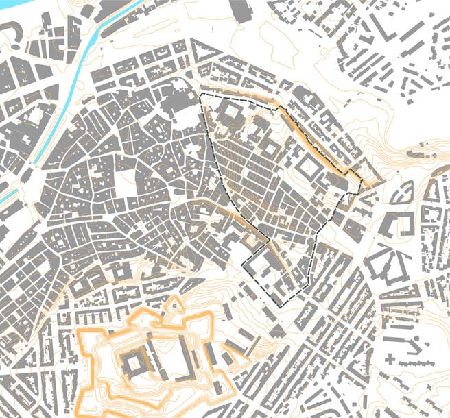 Traverses - Un quartier historique et central, une densité bâtie très importante (94% environ)