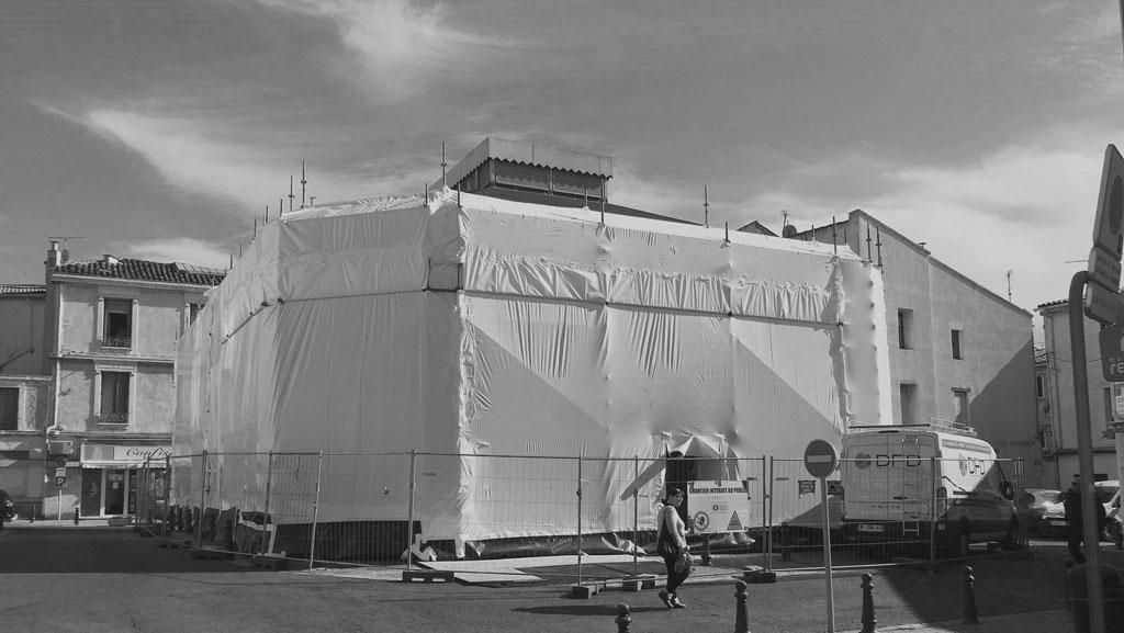 Traverses - travaux de confinement pour les opérations de dépollution amiante et plomb