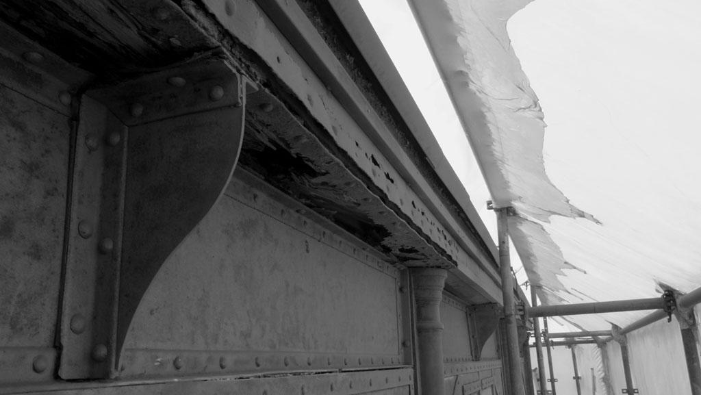 Traverses - état de corrosion des éléments de charpente avant travaux