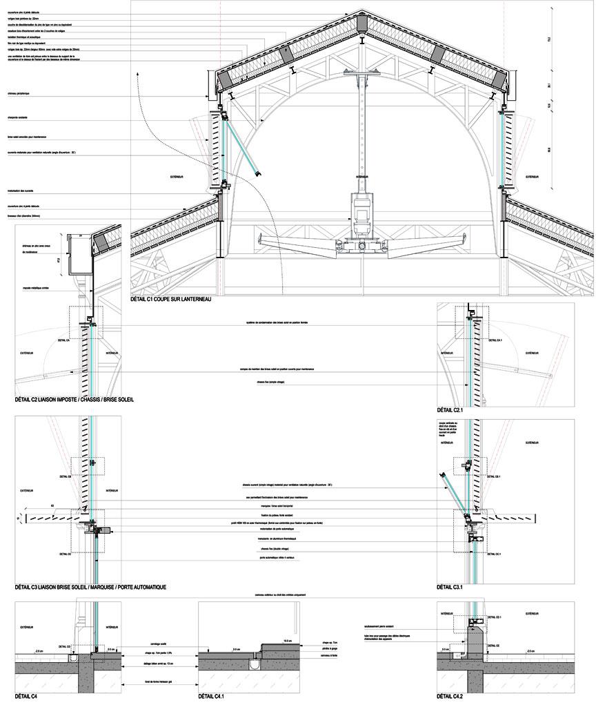 Traverses - détails constructifs - coupe verticale - phase DCE