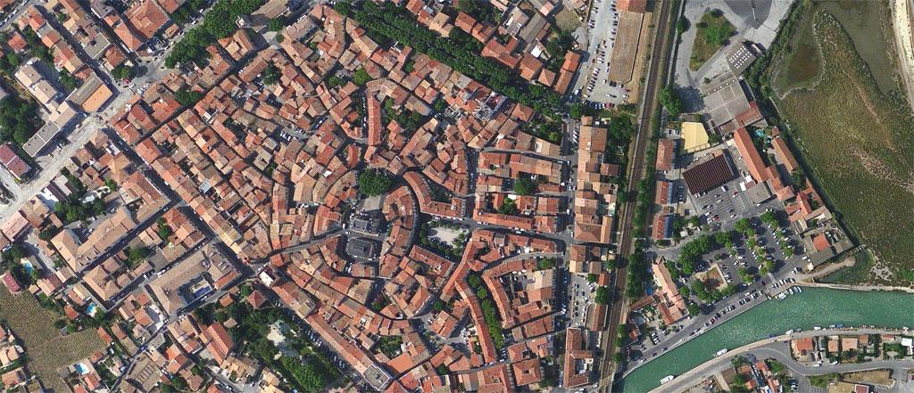 Traverses - vue aérienne du site