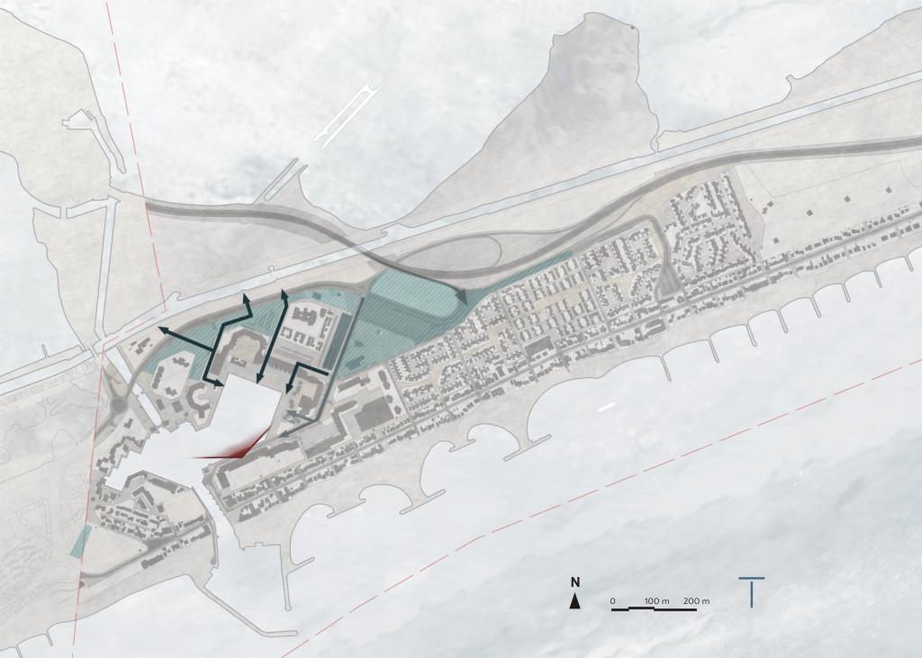 Traverses - aménager/clarifier les cheminements et vues vers le port