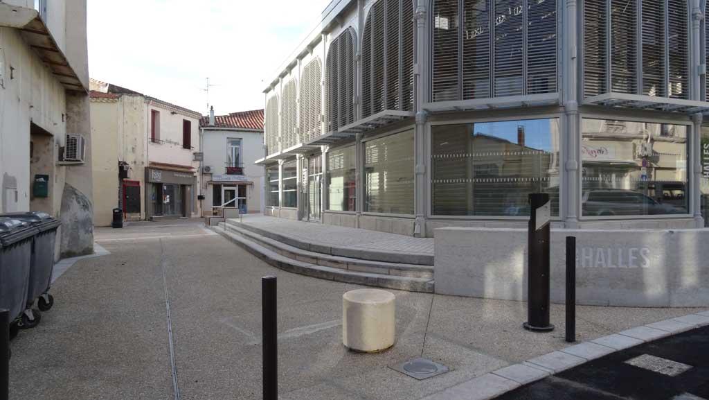 Traverses - le socle des halles rénovées - un nouvel espace public