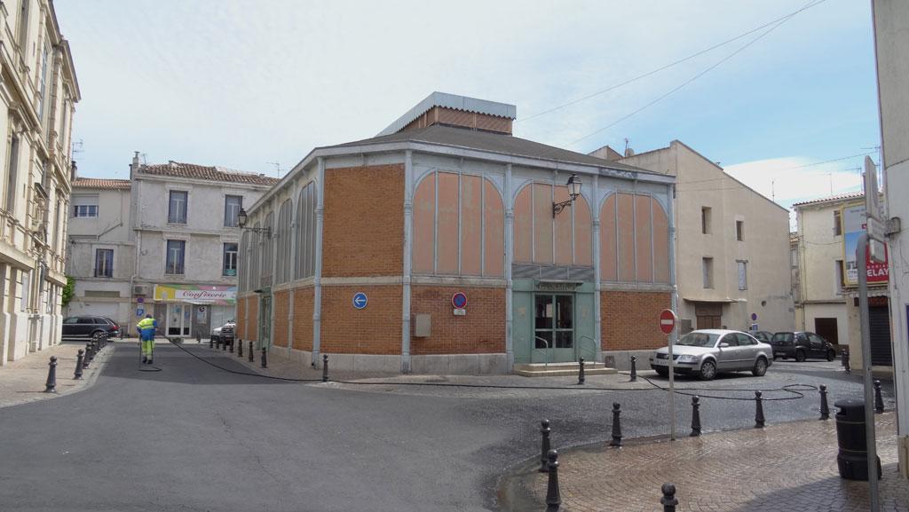 Traverses - vue des halles avant rénovation