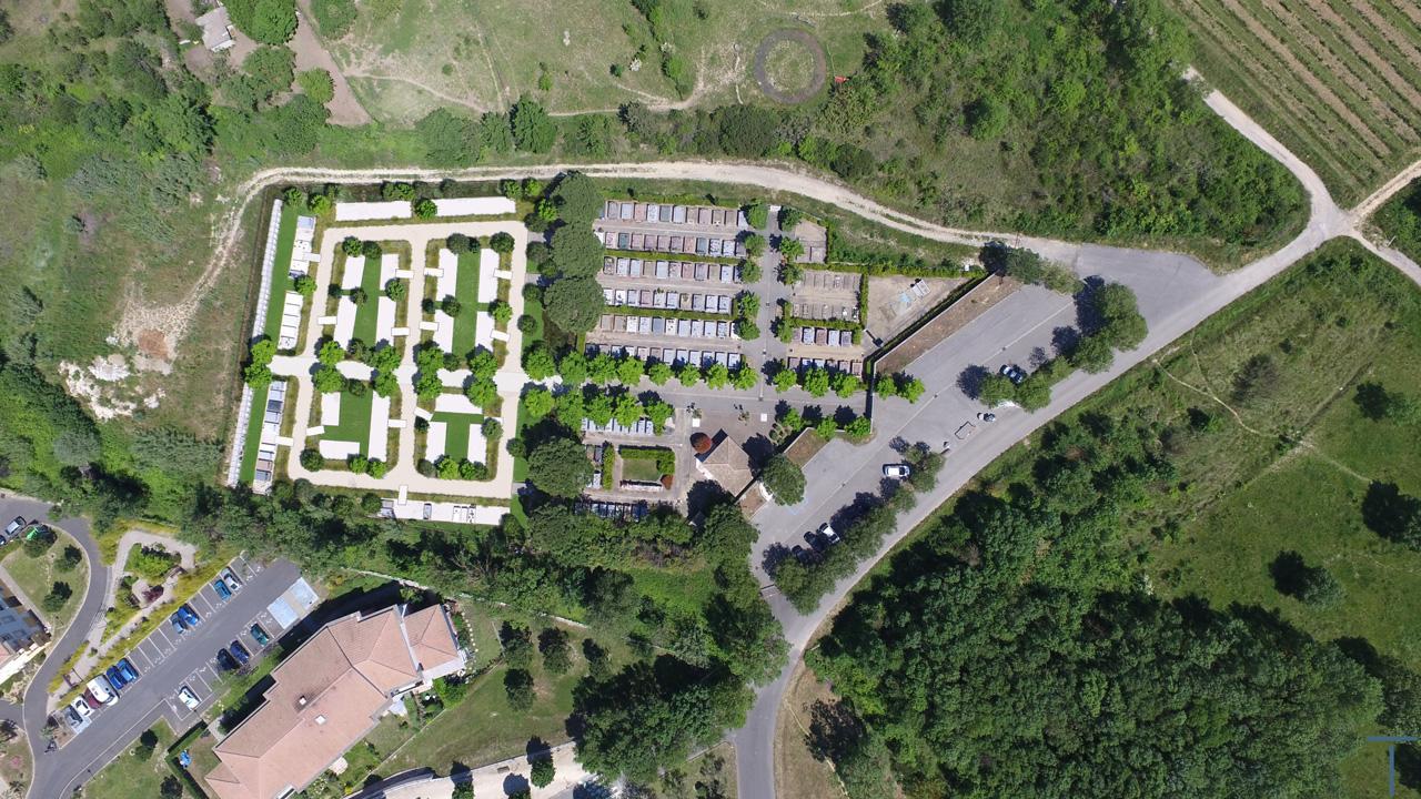 Traverses - photomontage de l'extension du cimetière