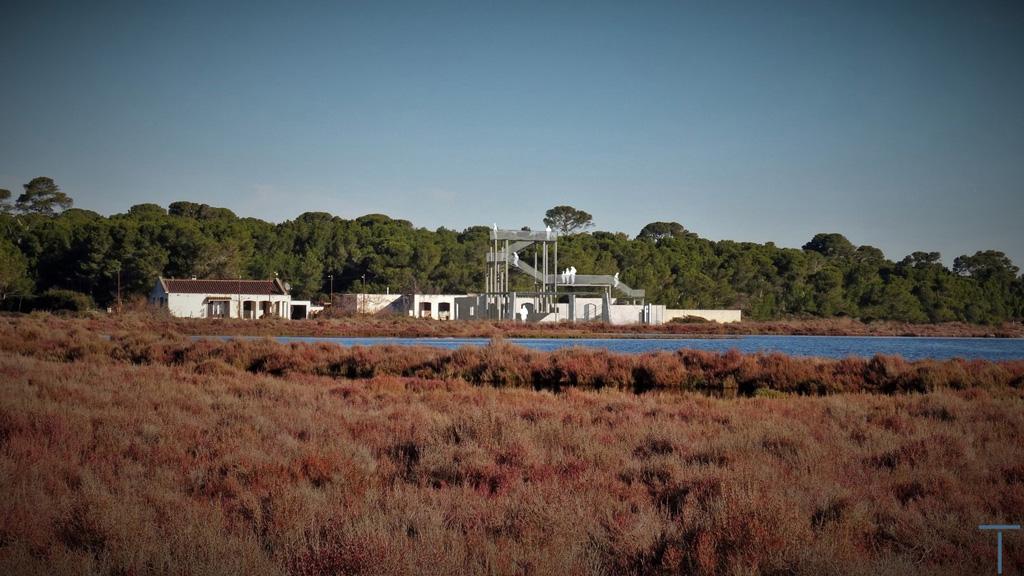 Traverses - vue de l'état projeté depuis les étangs