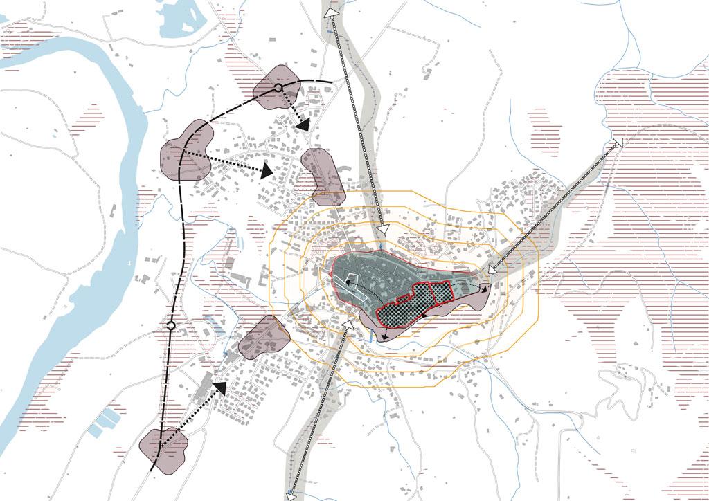 Traverses - exemple de cartographie pour une définition des enjeux