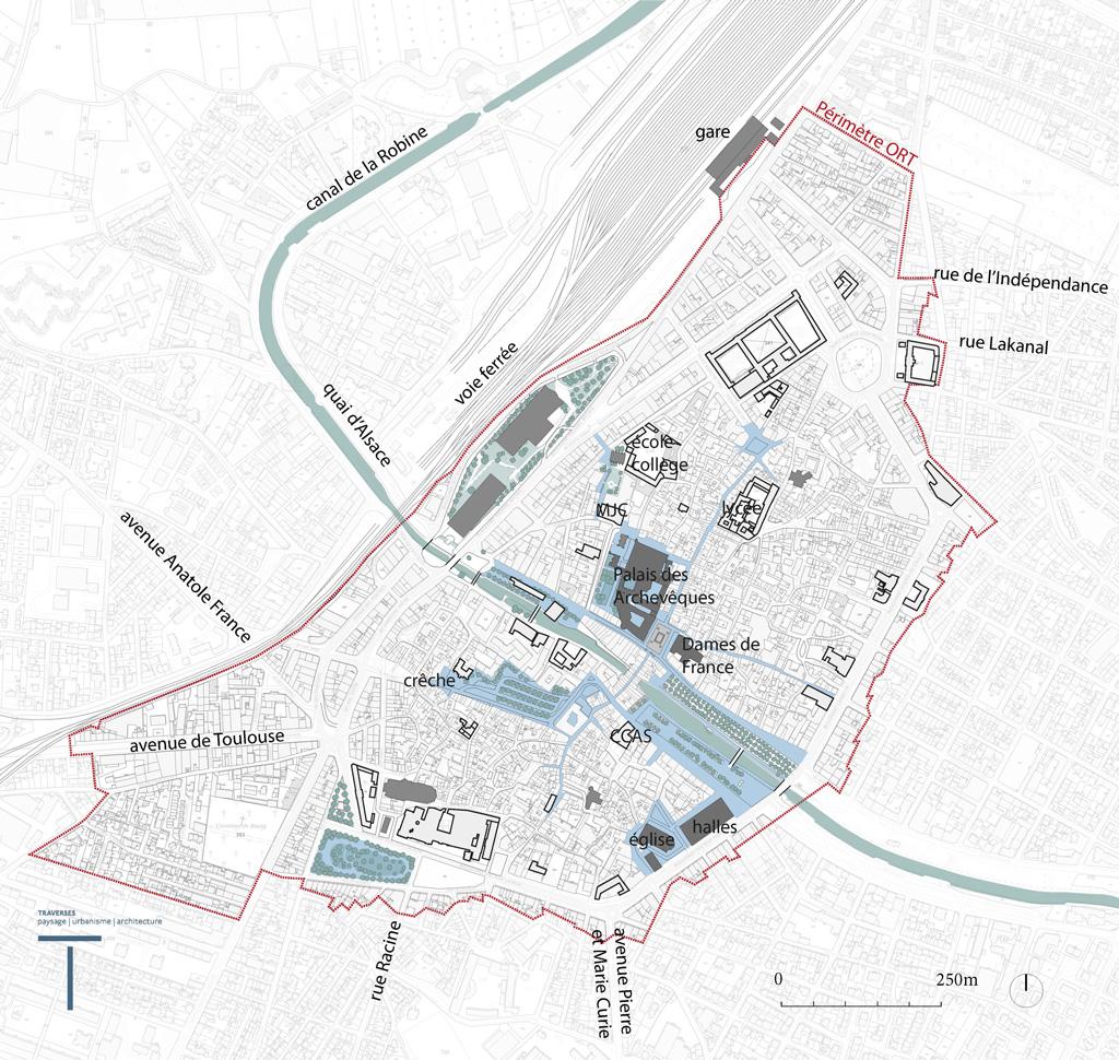Traverses - Objectif 3 - les espaces emblématiques de la ville confortés pour renforcer l'offre d'équipements et d'activités