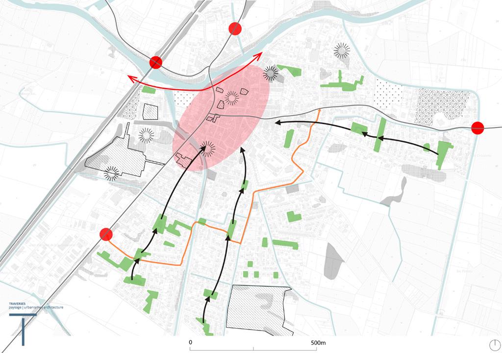 Traverses - Carte de synthèse de la commune de Coursan