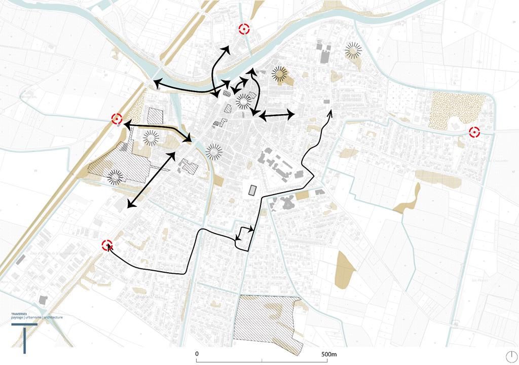 Traverses - Carte synthétique des enjeux de la commune de Coursan