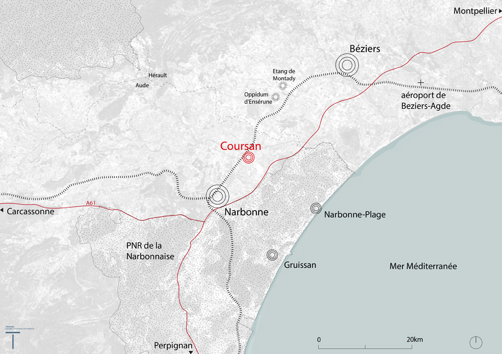 Traverses - Carte du Grand Territoire de Coursan