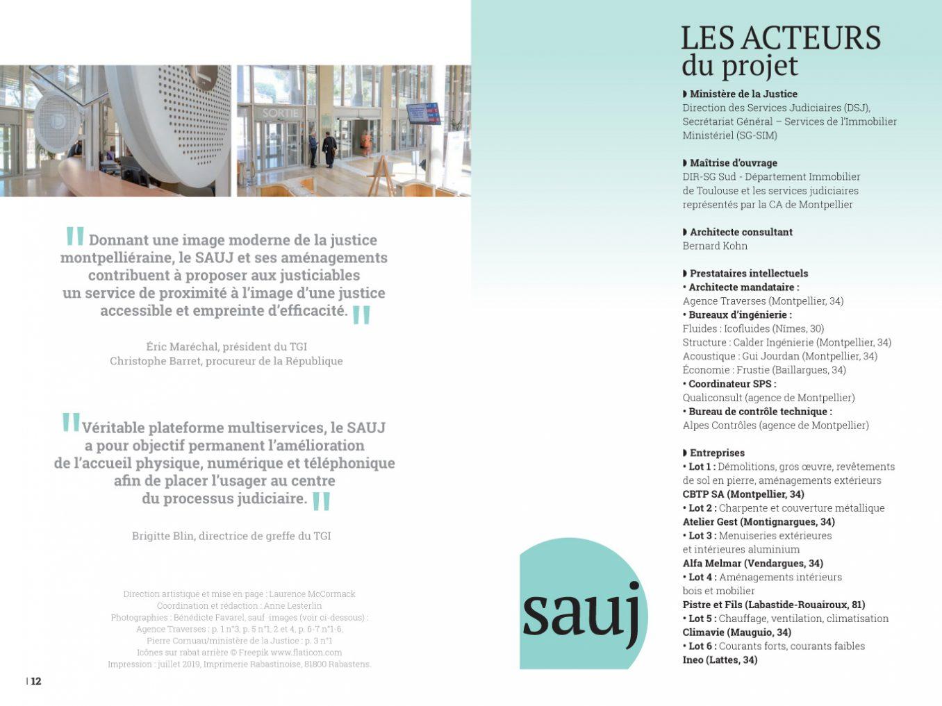 Traverses - plaquette SAUJ du tribunal Montpellier - pages 12-13