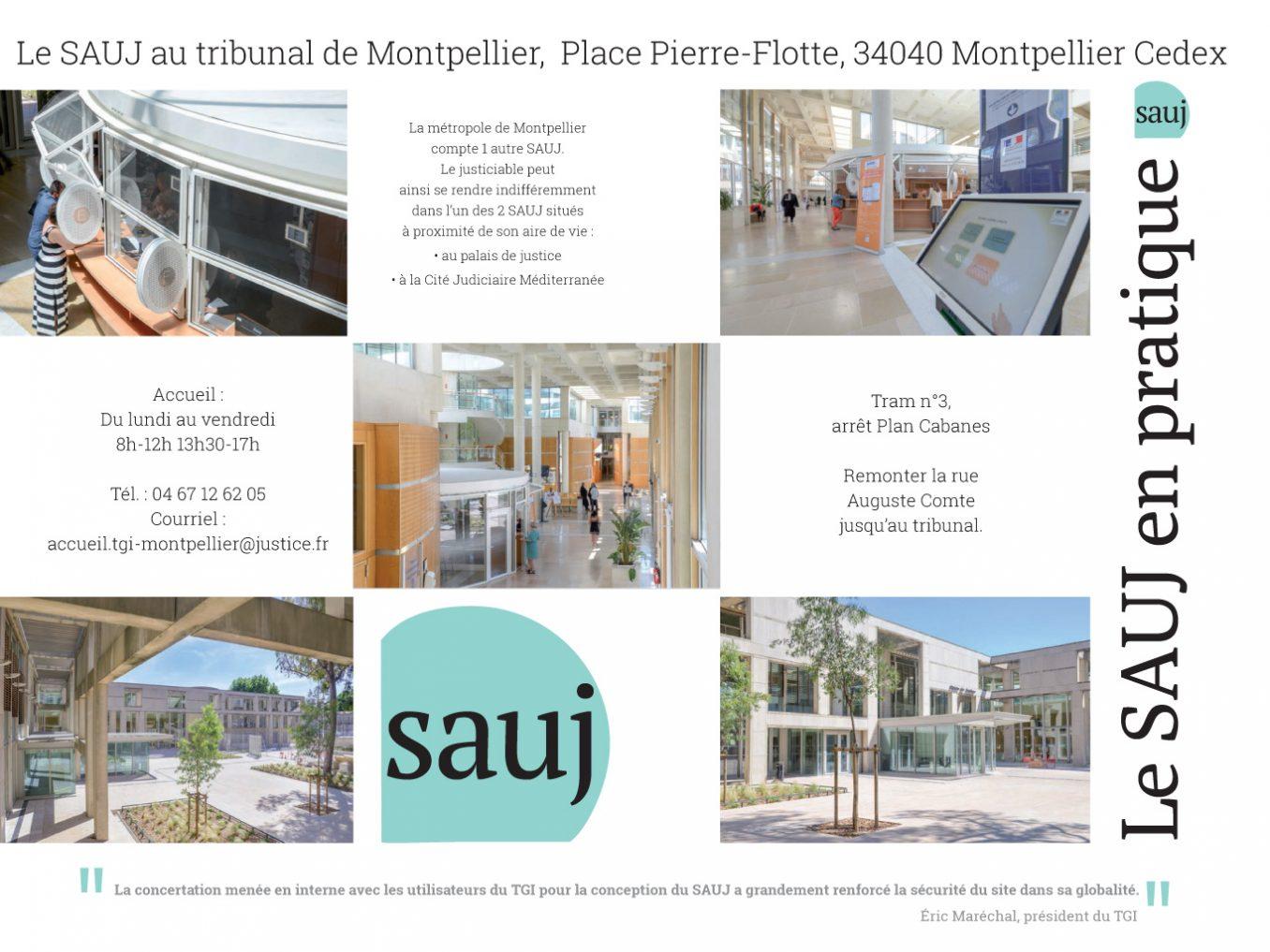 Traverses - plaquette SAUJ du tribunal Montpellier - infos pratiques