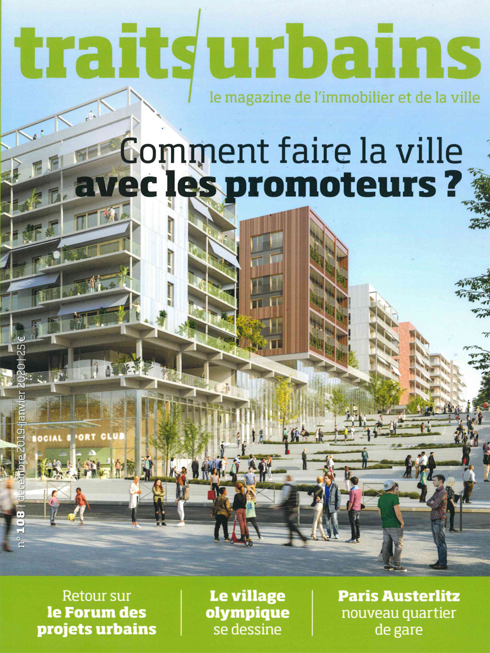 Traverses - Traits Urbains - Janvier 2020 - Couverture