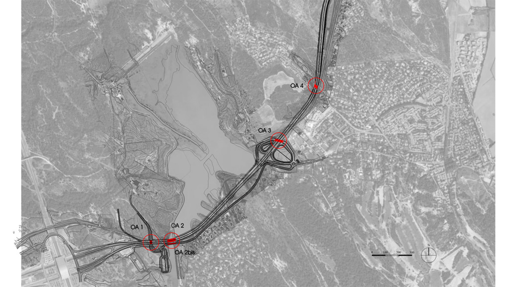 Traverses - plan de localisation des ouvrages - RD9