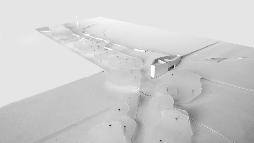 Traverses - Grammont - maquette liaison conciergerie et terrasse