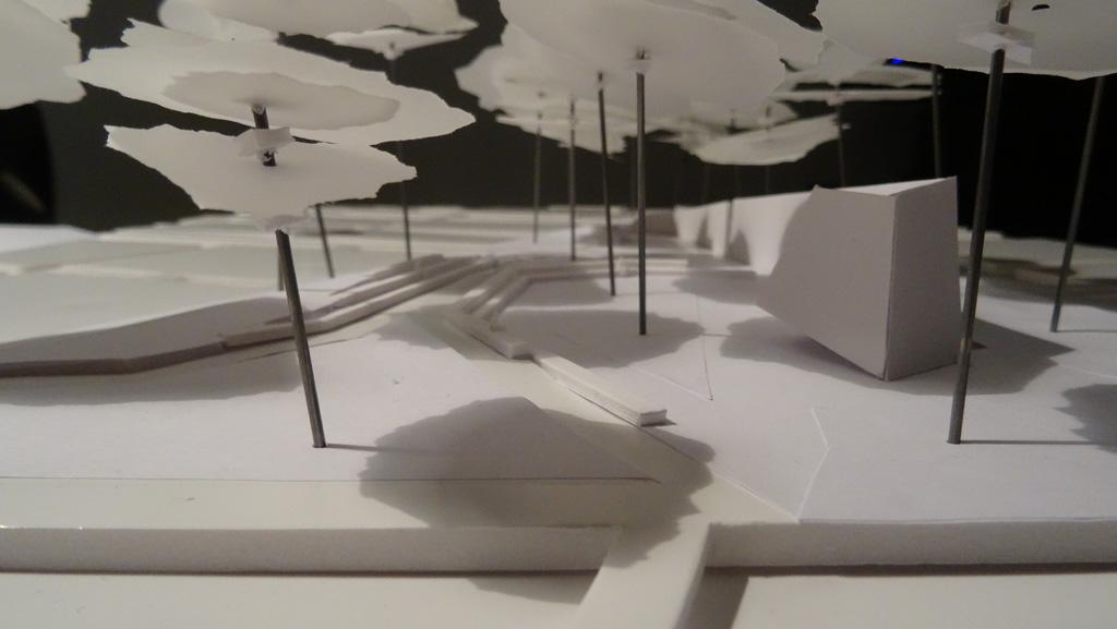 Traverses - Grammont - maquette lieu de recueillement