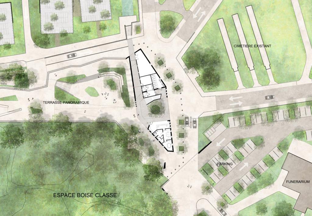 Traverses - Grammont - plan RDC de la conciergerie