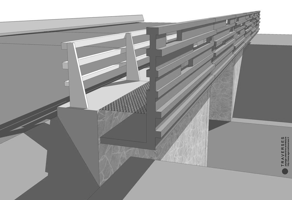 Traverses - vue 3D corniche de l'OA 1 - RD9 - Aix-en-Provence