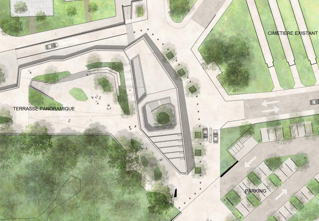 Traverses - Grammont - plan de toiture de la conciergerie