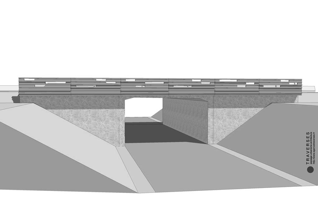 Traverses - vue 3D de l'OA 1 - RD9 - Aix-en-Provence