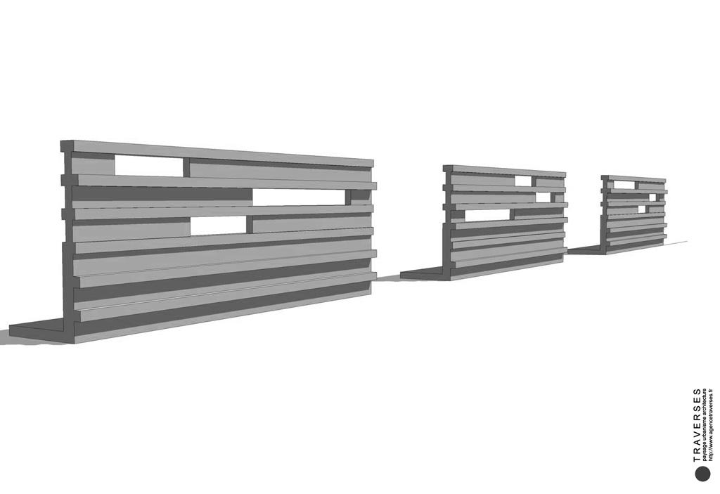 Traverses - vue 3D de la corniche de l'OA1