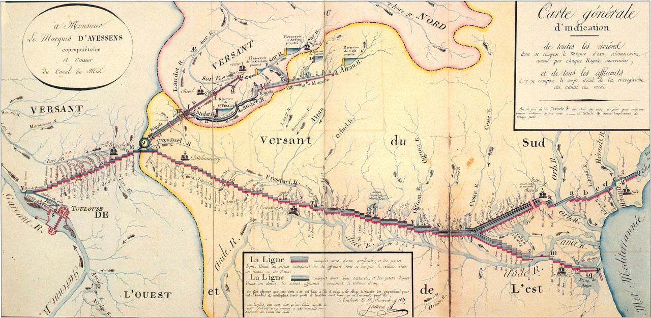 Traverses - carte générale d'indication Jasserieu (1825)