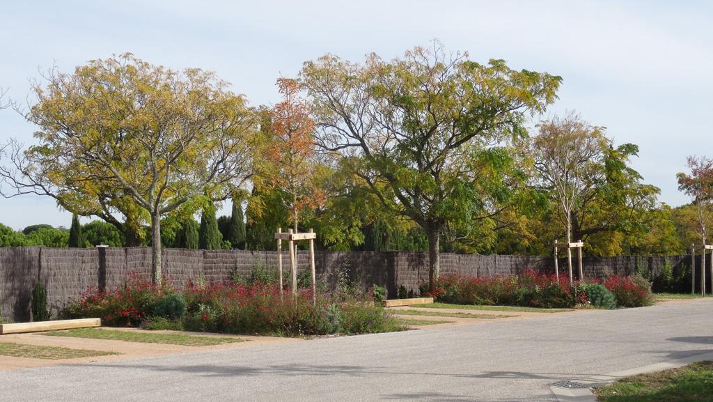 Traverses - couleurs d'automne du parking