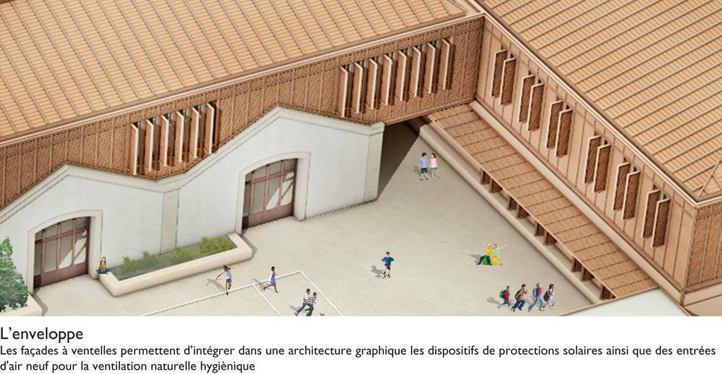 Traverses - détail sur les façades